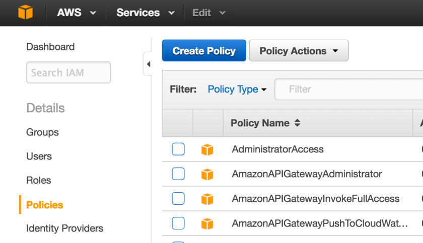 create-AWS-IAM-policy