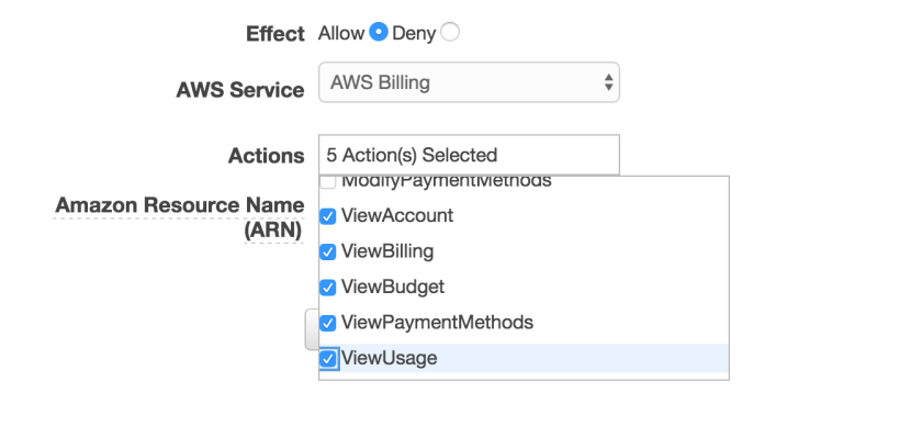 Read-Only-AWS-Billing-Policy